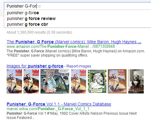 Googling Punisher G-Force